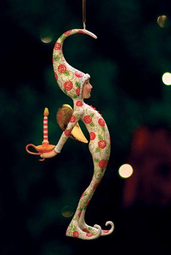 Patience Brewster - Rose Pajama Fairy Ornament...idea
