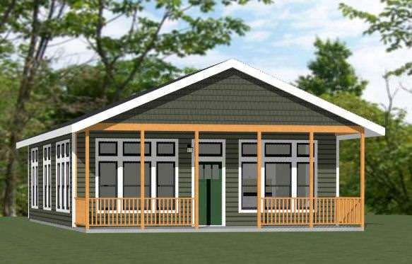 28x40 House 28x40h1c 2 Bedroom 2 Bath Home With Microwave Over Range Stacked Washer Dryer Sq Ft 1 120 Building Size Rustic Porch Porch Design House
