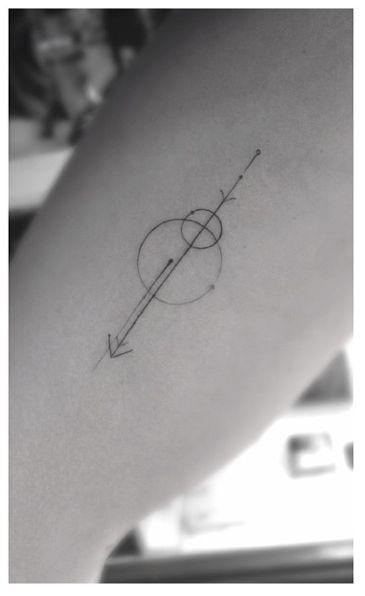 geometric tattoo. art deco. shapes. simplicity.