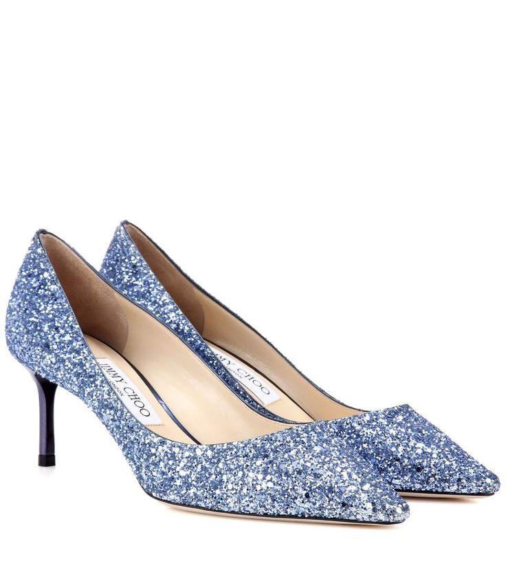 Escarpins à paillettes bleu cobalt
