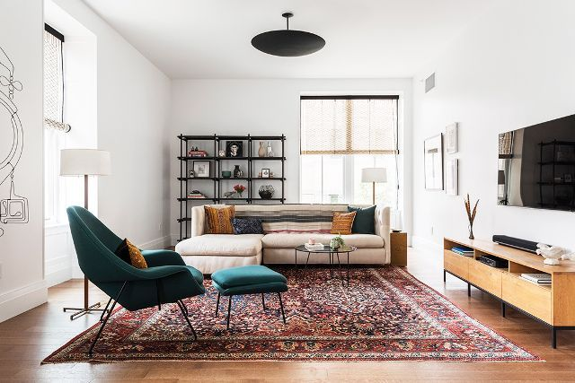 "While the days of unused ""sitting rooms"" and plastic-wrapped furniture are long gone, Roberts still insists on paying special attention to making your living room fits the conveniences of every..."