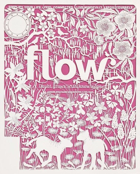 Flow Magazine cover by Geertje Aalders