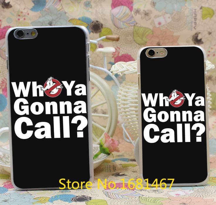 Кому позвонить (белый) охотники за привидениями Прозрачный Жесткий Стиль Для iPhone 7 7 Плюс 6 6 s 6 г 6 + 6 плюс Прозрачная Крышка Новое прибытие