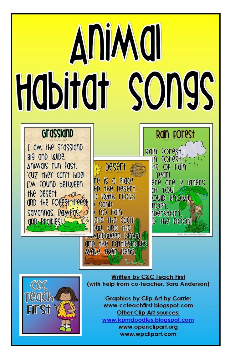Songs are a great way to introduce vocabulary to students and get them engaged in a lesson. This particular site has a variety of examples of how to use songs with habitat lessons.