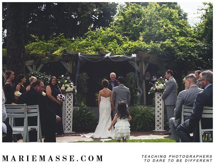 Lovely outdoor ceremony | Addison Oaks Wedding | www.mariemasse.com