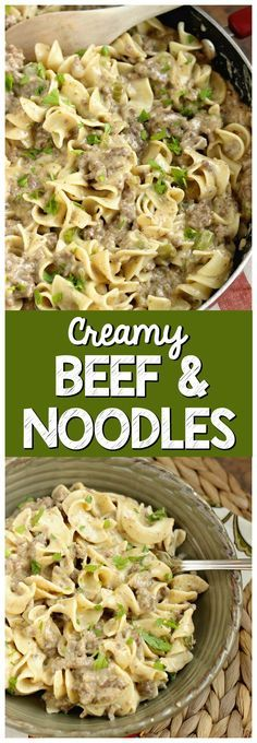 Creamy Beef Noodles - A quick and easy ground beef dinner recipe that is DELICIOUS! You will want to share this recipe with your friends for sure!