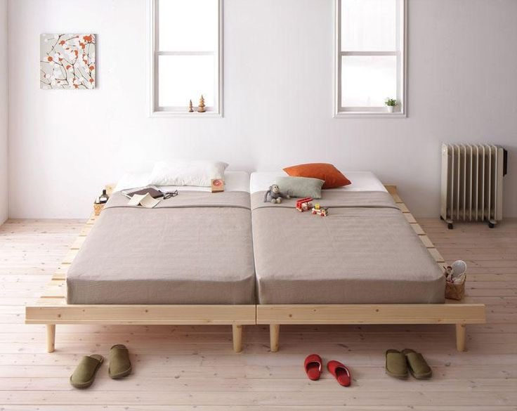 【Noora】ノーラ - セミダブルフレーム 北欧デザインベッド 全2色