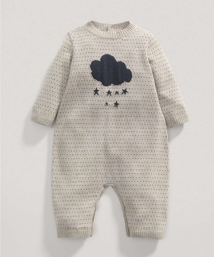 Boys Welcome to the World Fawn Knitted Romper - Rompers/Bodysuits - Mamas & Papas