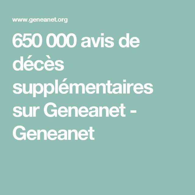 650 000 avis de décès supplémentaires sur Geneanet - Geneanet