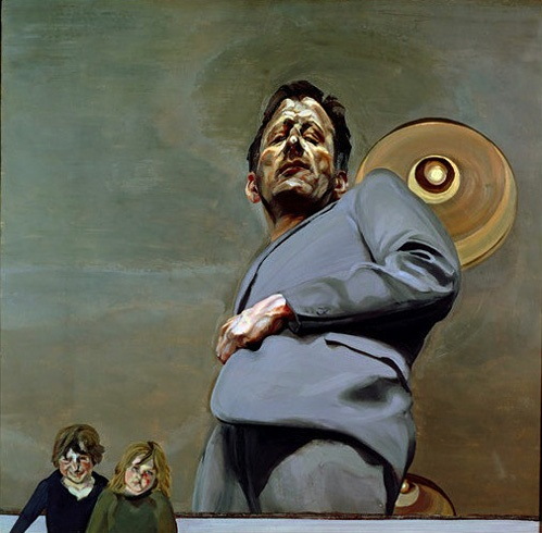 Lucian Freud - Reflection with Two Children (Self-Portrait), 1965 Museo Thyssen, Madrid