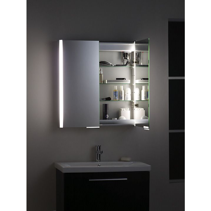 Buy Roper Rhodes Summit Illuminated Double Bathroom Cabinet with Double-Sided Mirror Online at johnlewis.com