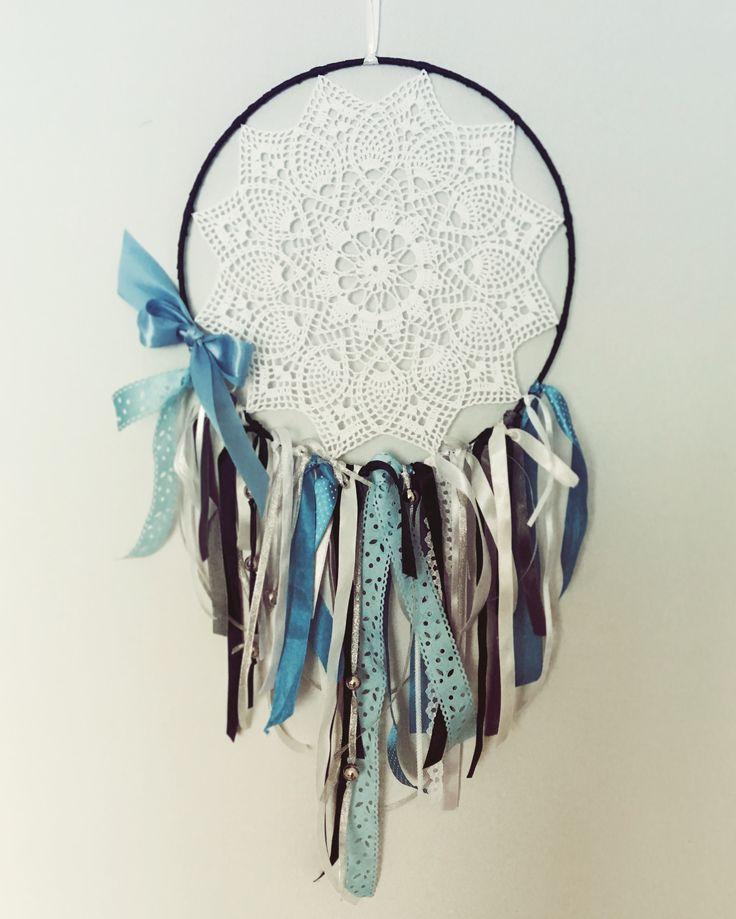 Dreamcatcher, łapacz snów, decor, dekoracja, dream, crochet, diy, hand nade, szydełko , serweta