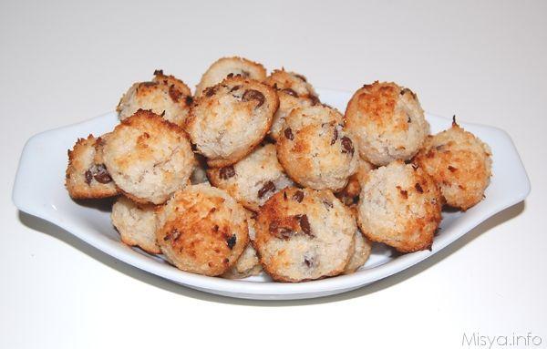 » Dolcetti al cocco e cioccolato Ricette di Misya - Ricetta Dolcetti al cocco e cioccolato di Misya