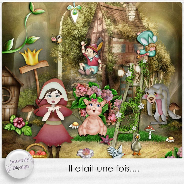 Personal Use :: Kits :: Il etait une fois [Mini kit] by butterflyDsign https://www.digitalscrapbookingstudio.com/personal-use/kits/il-etait-une-fois-mini-kit-by-butterflydsign/