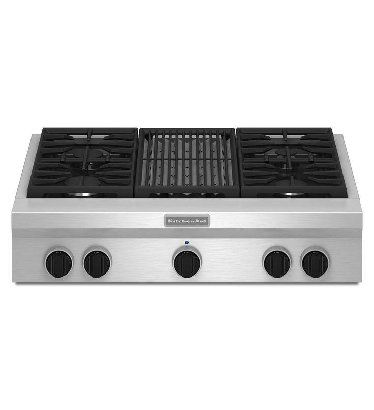 KitchenAid® 36-Inch 4-Burner with Grill, Gas Rangetop