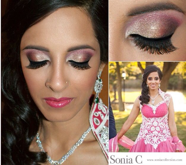 @soniacmakeup on Instagram Reception hair and makeup. For bookings email info@soniacollection.com