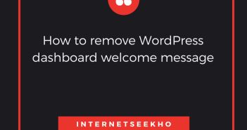 Learn Welcome Panel Removal – WordPress Dashboard