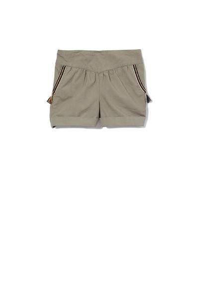 Tape Detail Girls Short by Milky Sizes 00-7