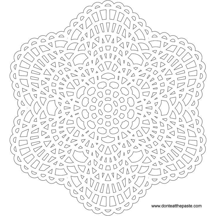 crochet mandala lace pattern mandala free printable mandala coloring pages flower mandala. Black Bedroom Furniture Sets. Home Design Ideas