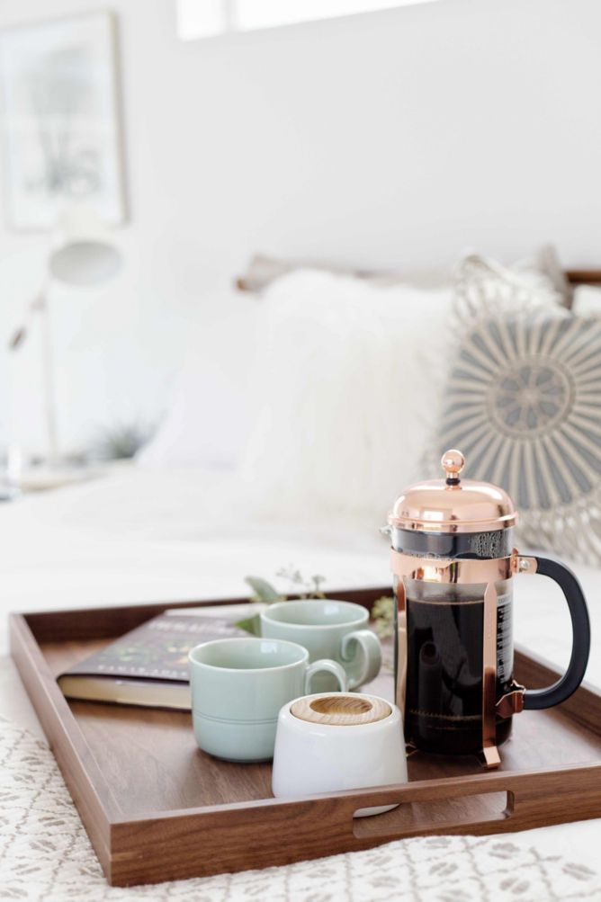 Breakfast in bed tray ideas by @100layercake