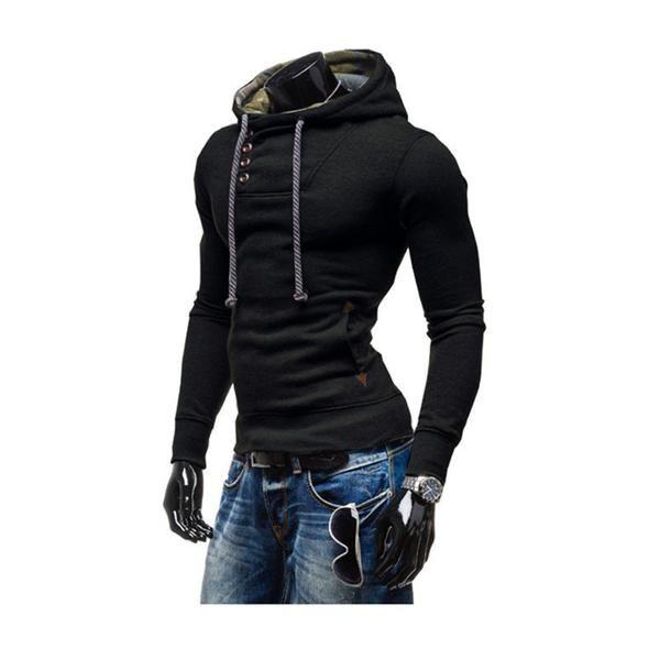 Brand Leisure Sportswear Fleece Hoodie Sweatshirt Jumper Top - 2 Colors-Men's Tops-Wickydeez