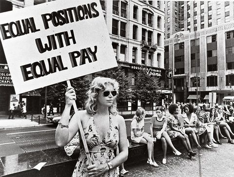 In Cincinnati in the early 1970s, a lone woman made a stand for equal pay. (image from Cincinnati Museum Center)