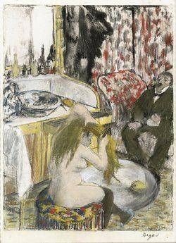 Edgar Degas Nackte Frau kämmt ihr Haar © Collection particulière, Chicago