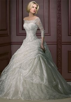 This is the one i was in love with but was too expensive, remember??? If you want a ballgown with lace, get this one!