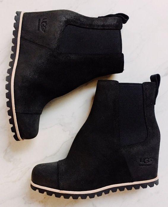6eee183ea69 UGG Pax Waterproof Wedge in Black. Go up a half size. Super comfy ...