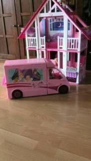 Barbie Traumvilla+Wohnmobil -wie NEU in Bayern - Moosburg a.d. Isar   Barbie Spielzeug gebraucht kaufen   eBay Kleinanzeigen