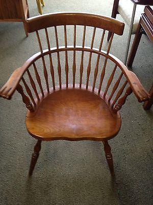 STICKLEY Cherry Wood Windsor Arm Chair 1953 179 Pub