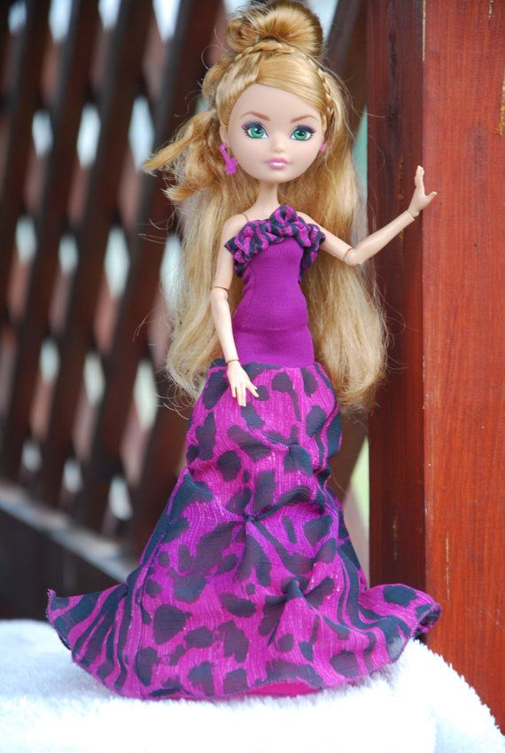 Monster High and Ever After High handmade purple by LucieVran