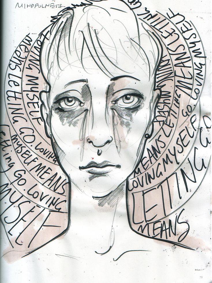 Part 29 daily journal workshop. MINDFULNESS.  #arttherapyArt Therapy, 2935 Journals, Art Journals, Street Art, Mindfulness Arttherapy, Daily Journals, 29 35 Journals, Journals Writing, Journals Workshop