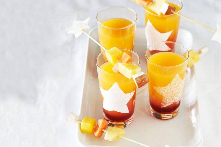 Feestelijk drankje waarmee de kids kunnen proosten! Recept -Grenadine sunrise - Allerhande