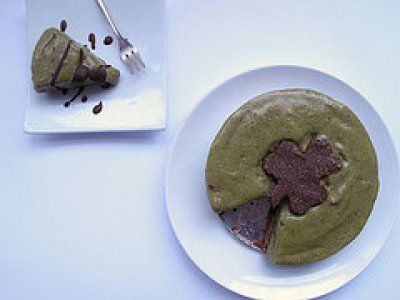 raw thin mint green tea ice cream cake