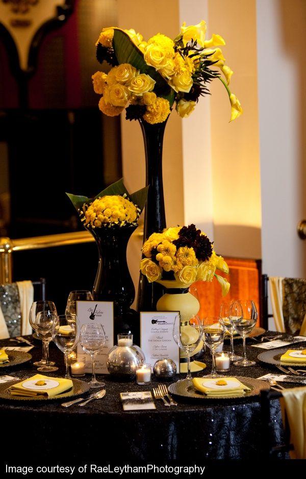 Estilo glam en decoraci n de salones para bodas parte ii - Decoracion salon amarillo ...