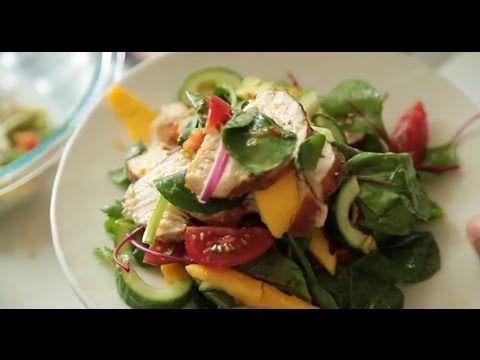 Mango and Avocado Smoked Chicken Salad | Nadia Lim