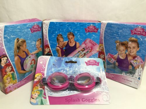 Details about Disney Princess Pool Toys Beach Inflatables Mat Ball Arm Bands Swim Goggles Raft