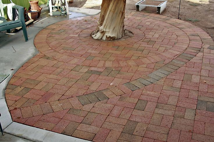 Garden Inspiration. Marvelous Backyard Pavers Designs, Patterns And Pictures: Outstanding Flag Stone Backyard Pavers Around Trees As Decorat...