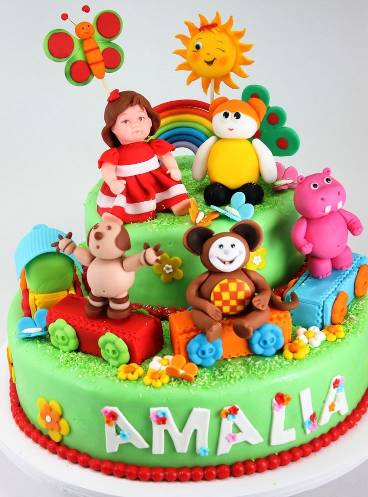 Baby TV cake with Oliver, Hipa Hipa Hey & friends