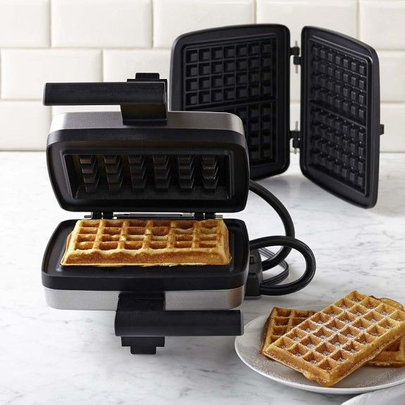 Croquade Waffle Maker with Giant Brussels and Traditional Waffle Plate   Williams-Sonoma