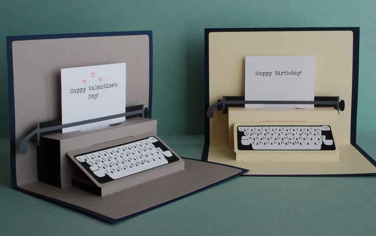 Typewriter Pop-Up Card