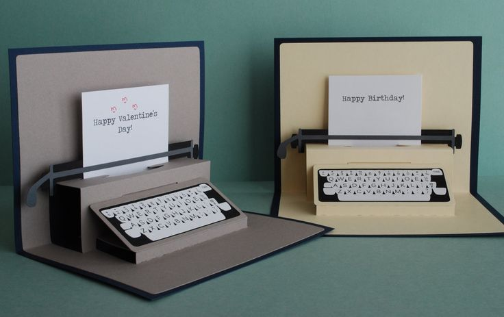 Typewriter Pop-Up Card