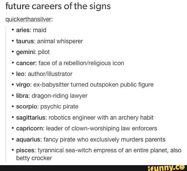 zodiac signs careers