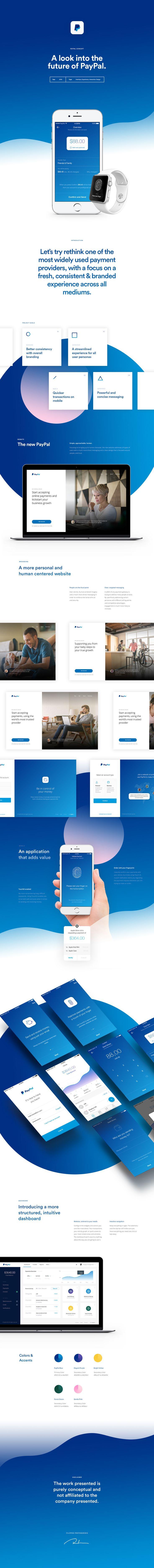 Concepto de diseño de interfaz de usuario de PayPal