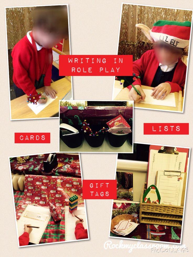 Writing in Santa's workshop