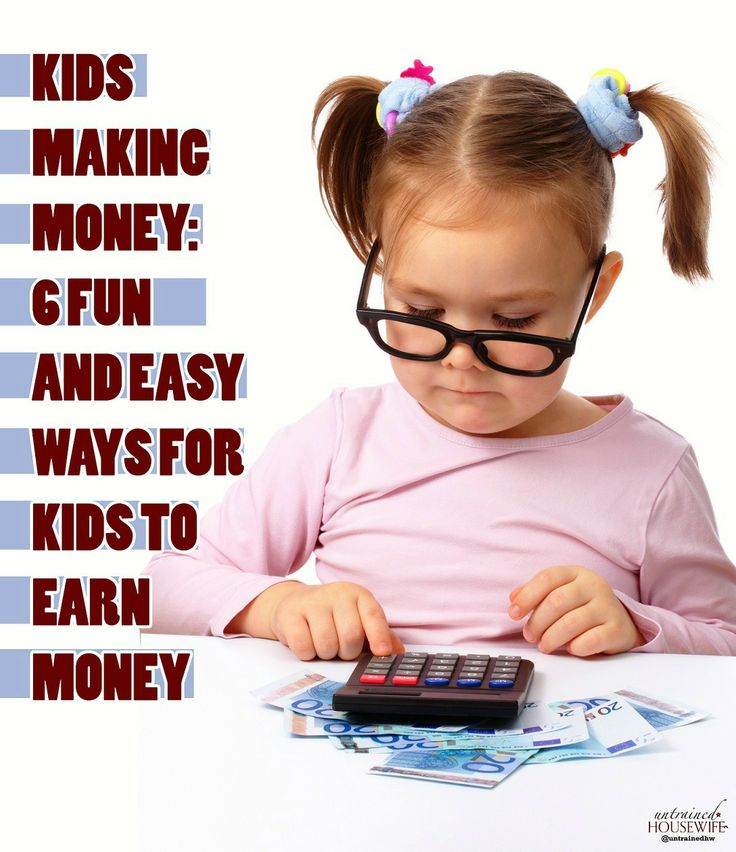 Six Fun and Easy Ways for Kids to Earn Money | Finances and Budgeting | Pinterest | Kid, Money ...