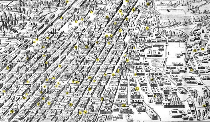 La traza: es la forma en que se disponen las calles con las manzanas, además de la relación que guardan con los demás elementos como las plazas, glorietas, etc.  La mayoría de las veces la traza urbana obedece a las características del suelo donde se asienta el lugar.