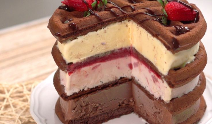 Holy moly! If you're a fan of waffles and ice cream, then this recipe totally takes the cake (pun intended)!