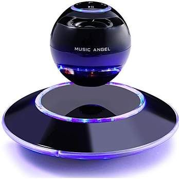 Music Angel JH-FD19 Levitating Portable Wireless Bluetooth Speakers with Microphone for iphone and ipad (Black). #Gadget #Technology #Bluetooth